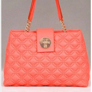Kate Spade Signature Quilted Coral Tote Bag